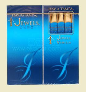 美国蓝色女神香草味 5支装甜木嘴雪茄USA HAV-A-TAMPA JEWELS VANILLA Five Birchwood Tip Cigars